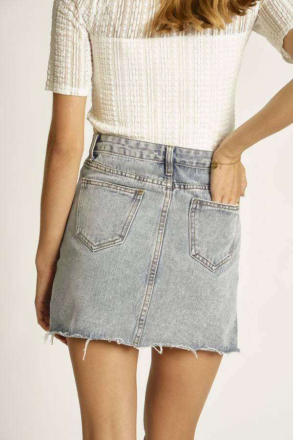 DENIM MINI SKIRT (325849)