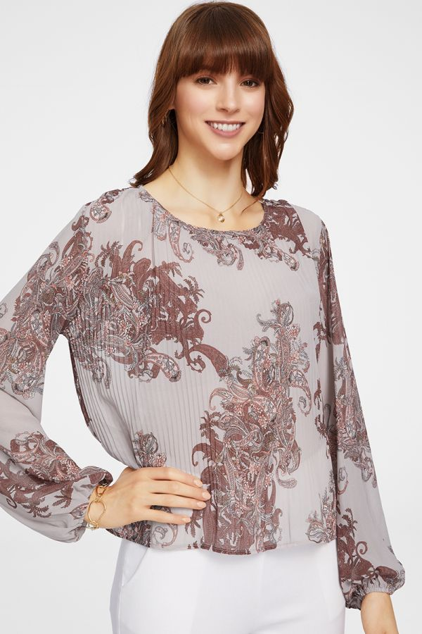PLEATS BOHO TOP (325862)