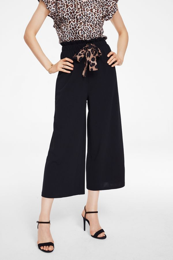 TIED UP WIDE LEG PANTS (325918)
