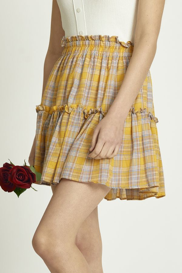 CHECK MINI SKIRT  (326165)