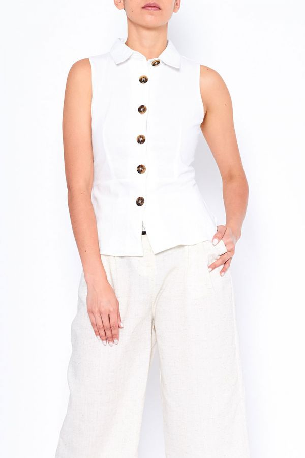 BASIA SLEEVELESS SHIRT