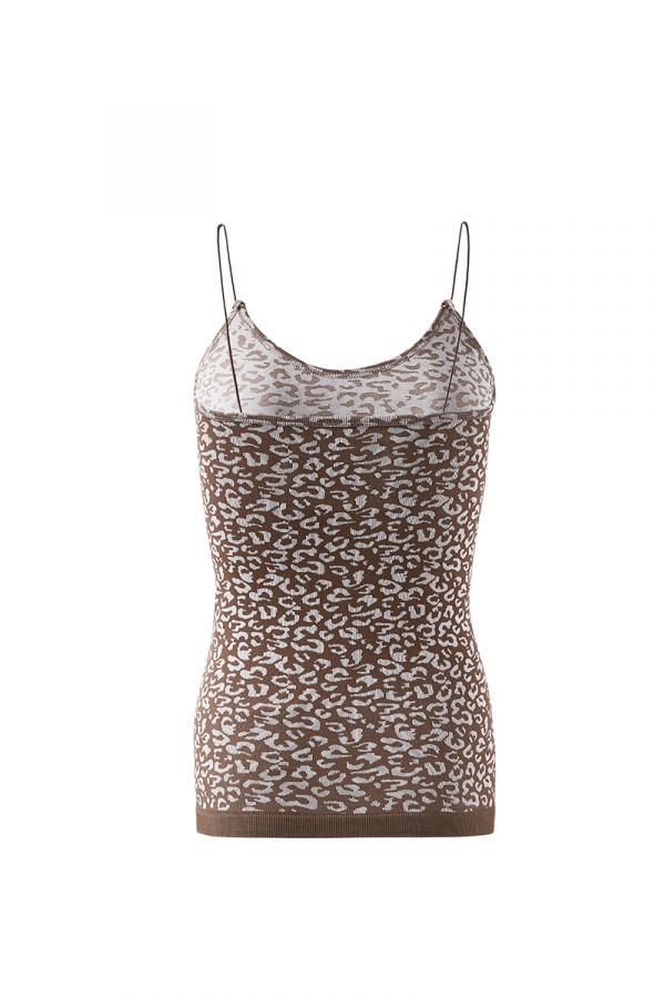 PATTERNED STRING STRAP TOP
