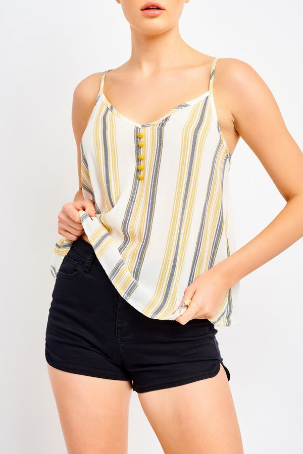SERENA BUTTON DETAIL CAMI TOP