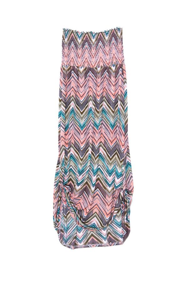 TUNIS SHIRRED STRAPLESS MAXI DRESS
