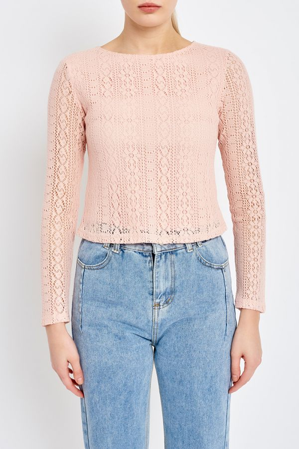 EMMA LACE OVERLAY TOP