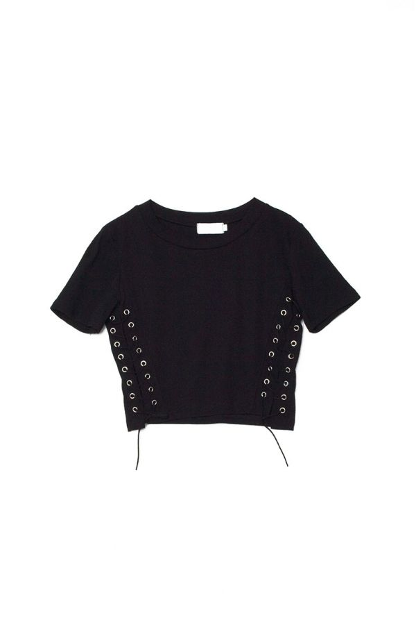 AINE LACE UP SIDE CROP TOP