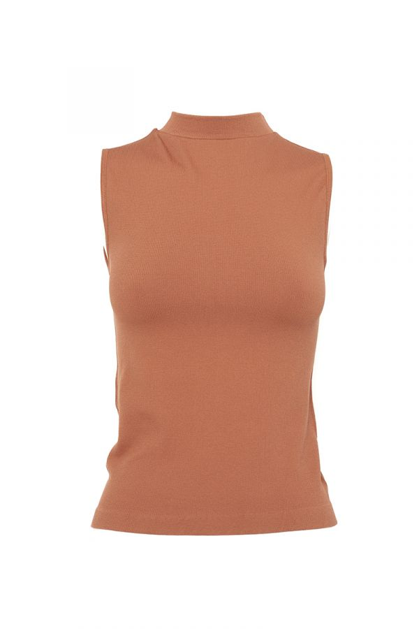 YESICA HIGH NECK SLEEVELESS TOP
