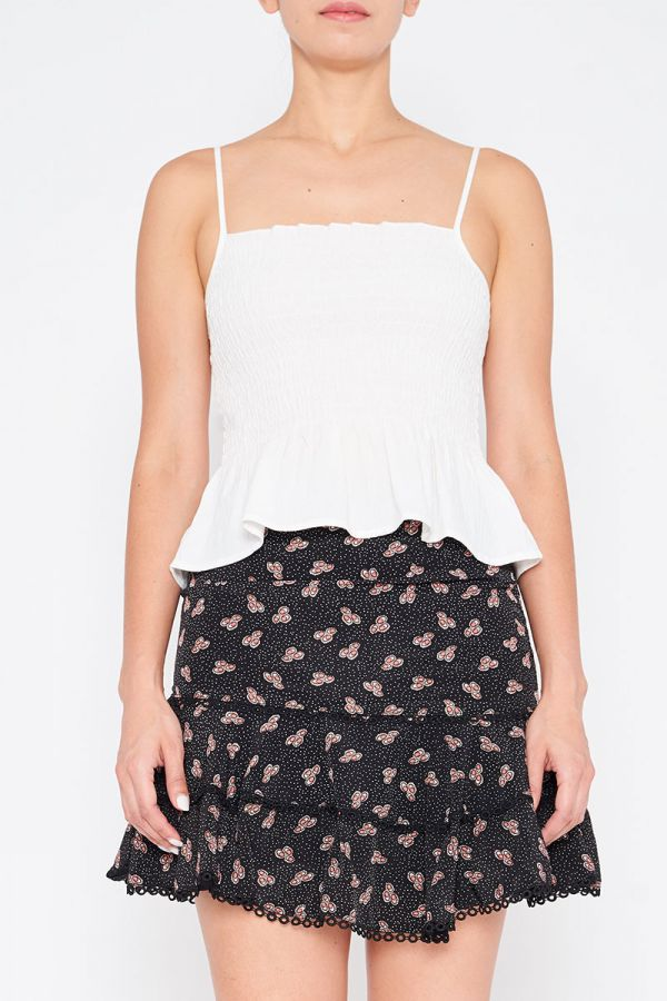BARON SHIRRED CAMI TOP
