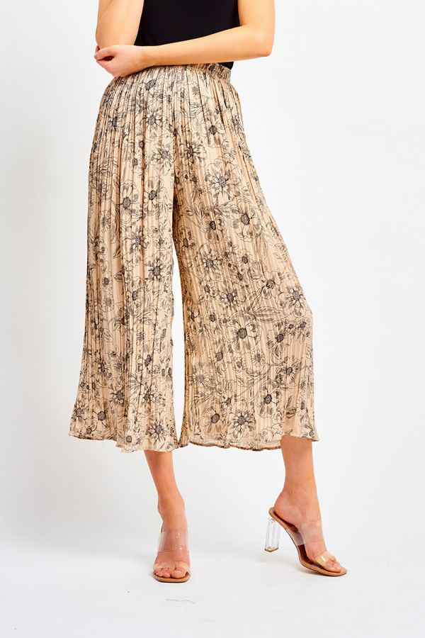 TASHA PLEATED WIDE LEG CULOTTES