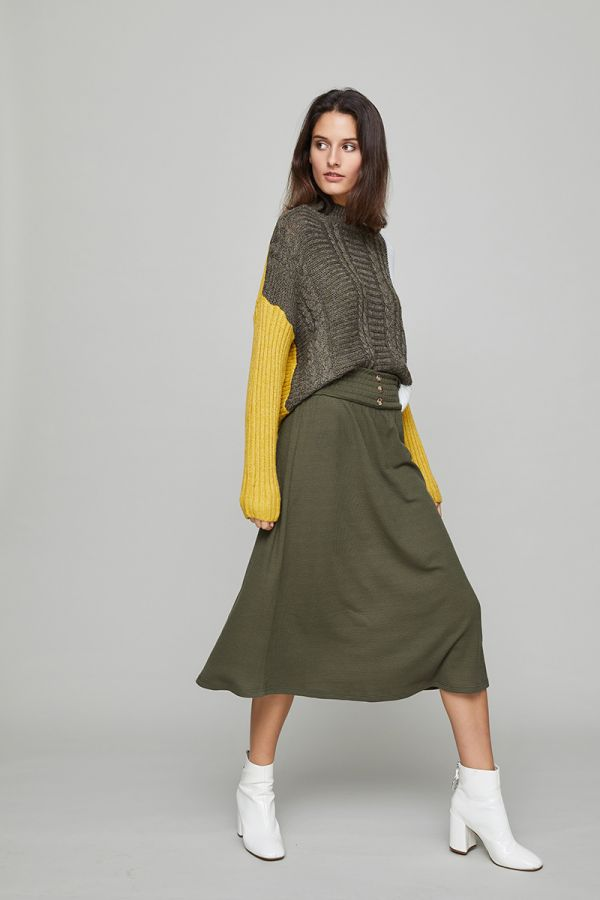WHITNEY MIDI SKIRT