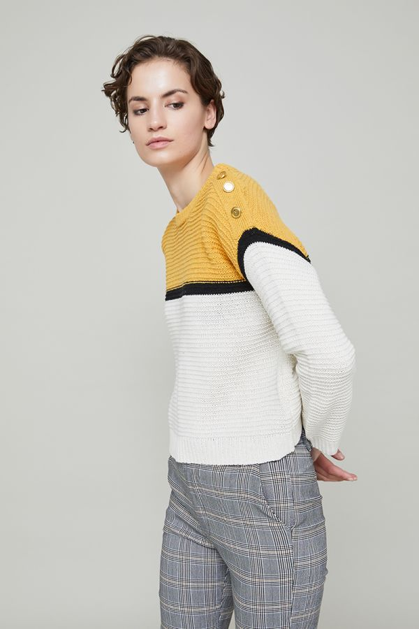 EMERSON BUTTON DETAIL KNIT JUMPER