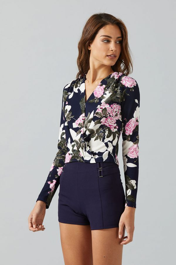 KATRINA RUCHED WRAP TOP
