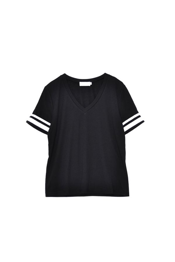 CONTRAST SLEEVE PANEL TEE