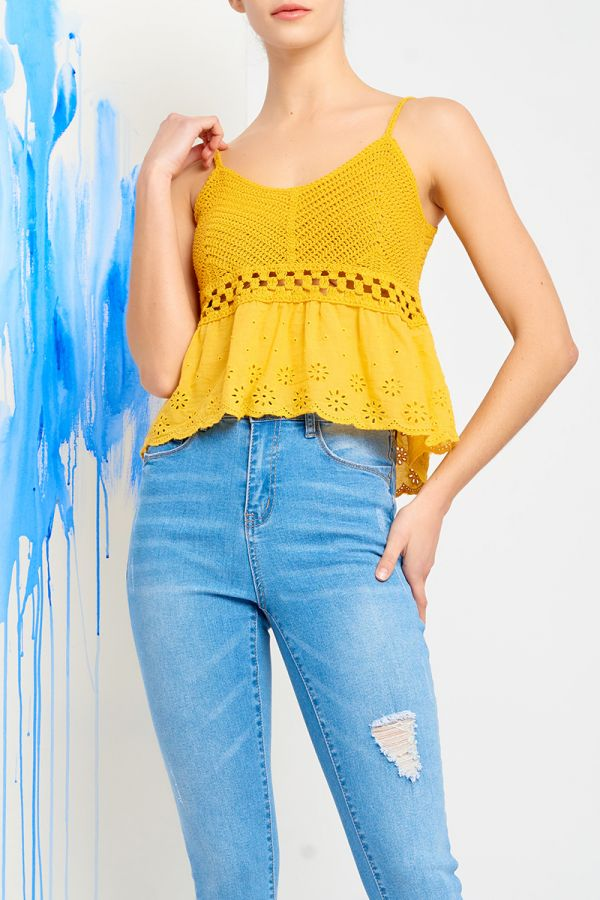ISOLA KNIT CAMI TOP (321335)