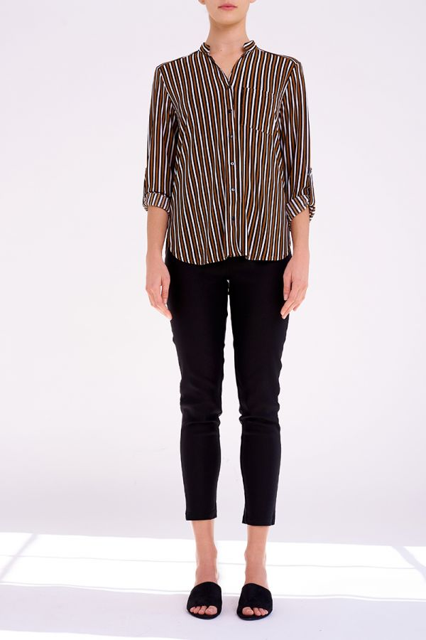 DALINA COLLARLESS SHIRT