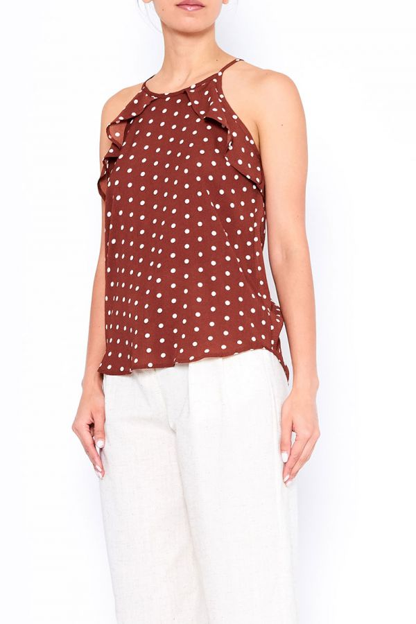 HELENA FRILL DETAIL TOP