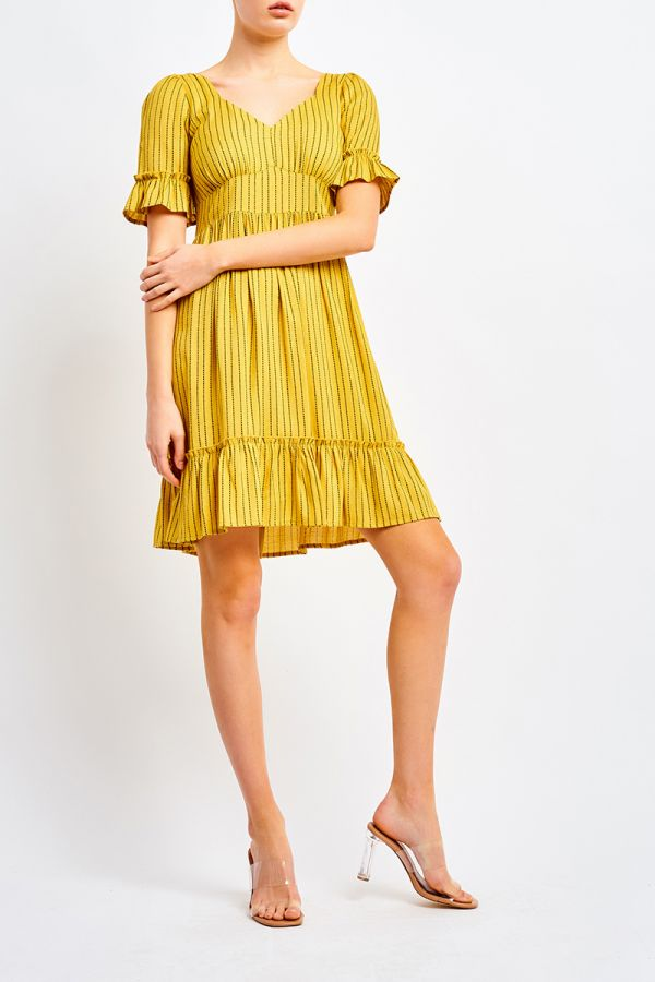 NADIA RUFFLE HEM DRESS