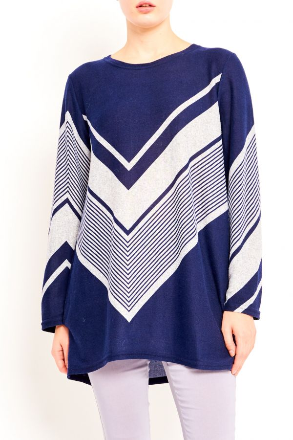 CAMILLA CHEVRON STRIPES TOP