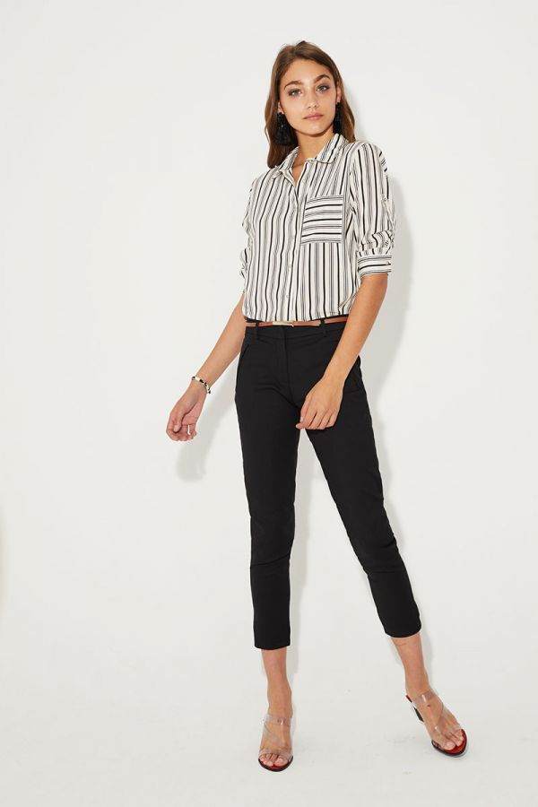 SAMANTHA STRIPE POCKET SHIRTS