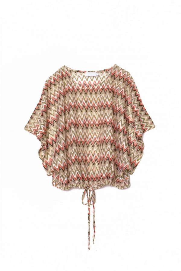 ALEXA CHEVRON STRIPE TOP (INNER TOP NOT INCLUDED)