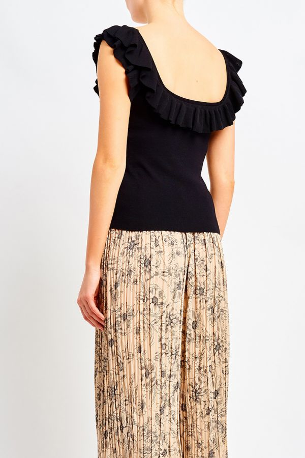 SHAE FRILL KNIT TOP