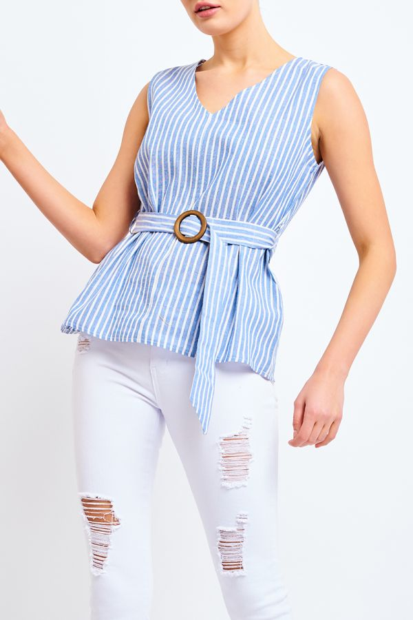 DAYNA BELTED TOP
